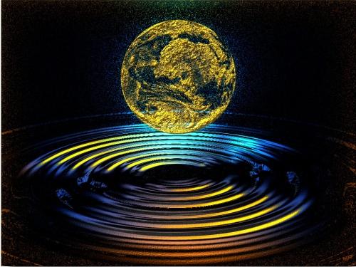 Goldsee und Erde